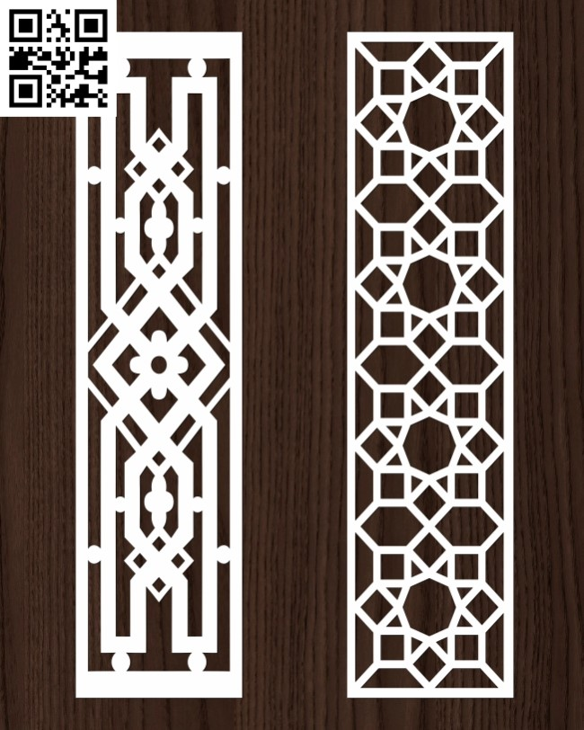 Design pattern screen panel E0013072 file cdr and dxf free vector download for laser cut cnc