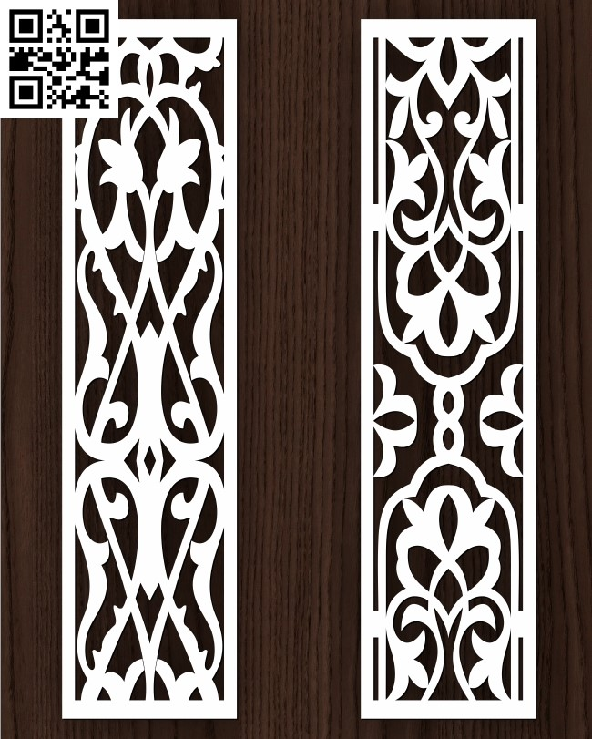 Design pattern screen panel E0013073 file cdr and dxf free vector download for laser cut cnc