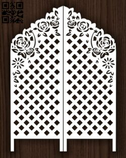 Design pattern screen panel E0013162 file cdr and dxf free vector download for laser cut cnc