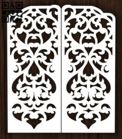 Design pattern screen panel E0013163 file cdr and dxf free vector download for laser cut cnc
