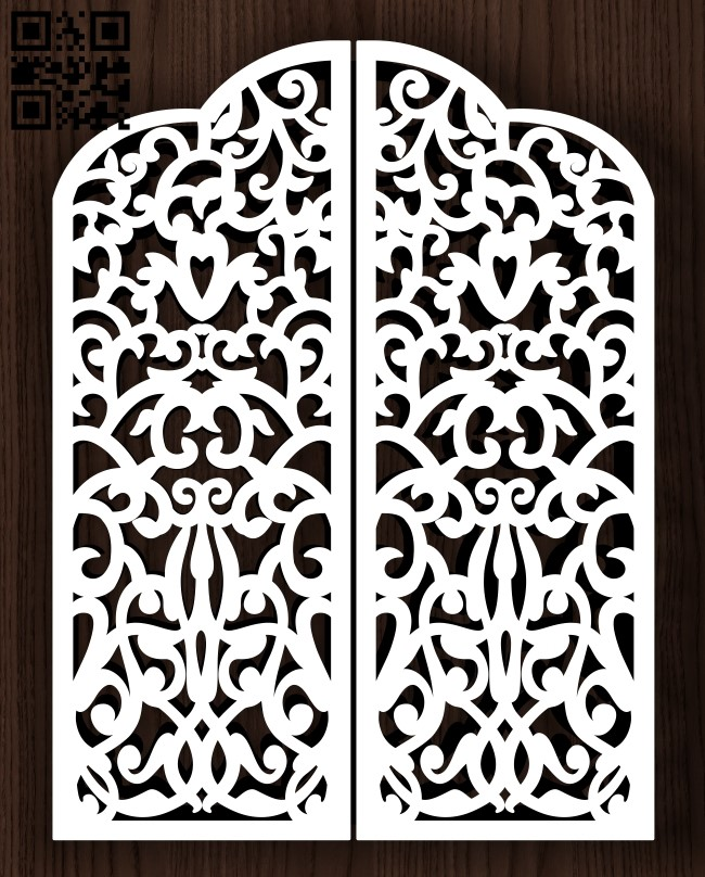 Design pattern screen panel E0013164 file cdr and dxf free vector download for laser cut cnc