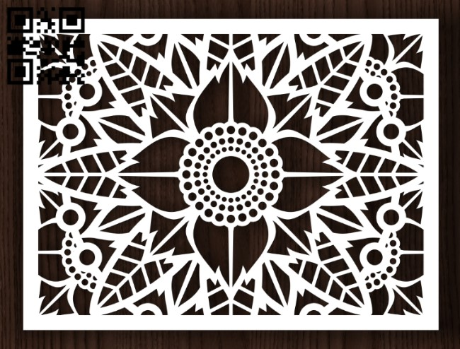 Design pattern screen panel E0013165 file cdr and dxf free vector download for laser cut cnc