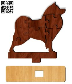 Dog puzzle E0013121 file cdr and dxf free vector download for cnc cut