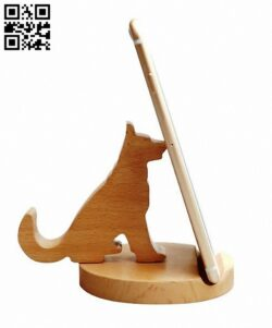 Dog phone stand E0012988 file cdr and dxf free vector download for cnc