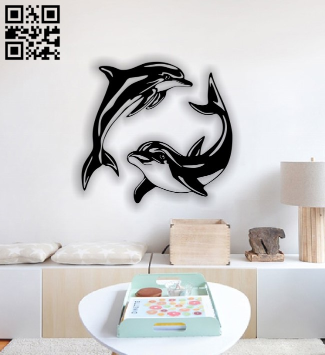 Dolphin E0013180 file cdr and dxf free vector download for laser cut plasma