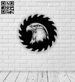 Eagle with saw E0013133 file cdr and dxf free vector download for cnc cut plasma