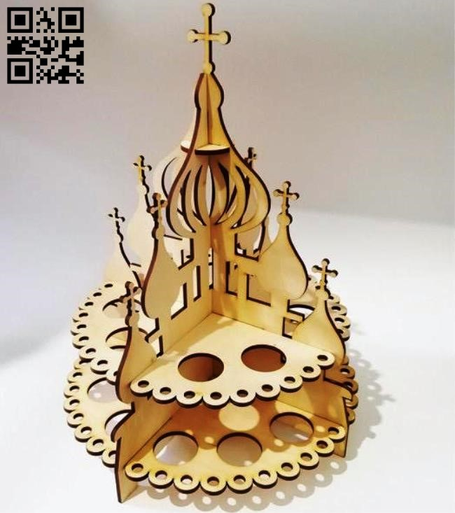 Eggs stand E0013051 file cdr and dxf free vector download for laser cut