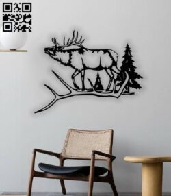 Elk E0013135 file cdr and dxf free vector download for cnc cut plasma