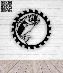 Fish with saw E0013134 file cdr and dxf free vector download for cnc cut plasma