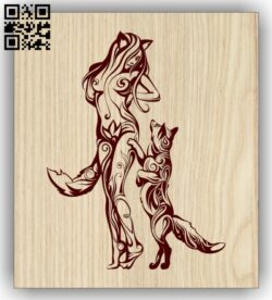 Fox man E0013081 file cdr and dxf free vector download for laser engraving machines