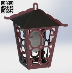 Garden lantern E0012999 file cdr and dxf free vector download for laser cut