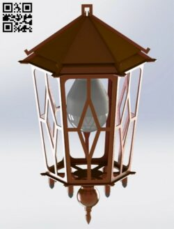 Garden lantern E0013000 file cdr and dxf free vector download for laser cut