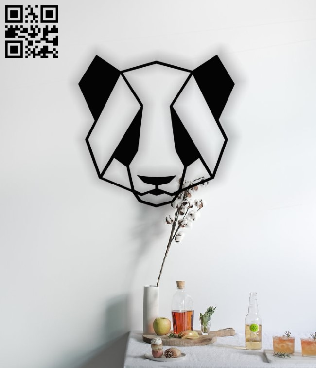 Geometric Panda E0013098 file cdr and dxf free vector download for laser cut plasma