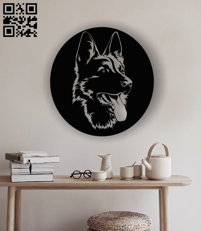 German dog E0012991 file cdr and dxf free vector download for laser cut