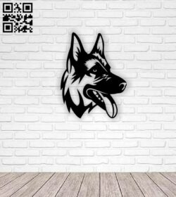 German dog E0013019 file cdr and dxf free vector download for laser cut