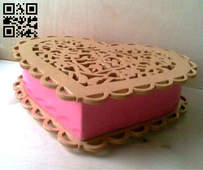 Heart box E0013083 file cdr and dxf free vector download for laser cut
