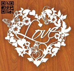 Heart of love E0013096 file cdr and dxf free vector download for laser cut plasma