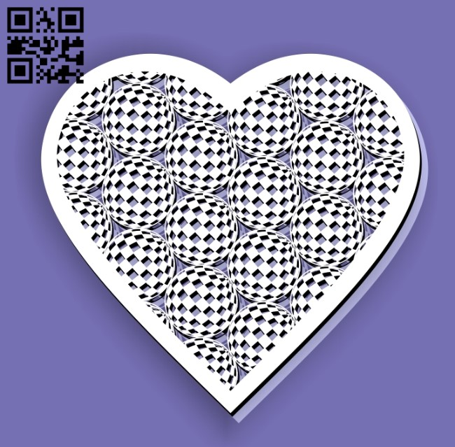 Heart with globe E0012976 file cdr and dxf free vector download for laser cut