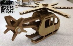 Helicopter E0013148 file cdr and dxf free vector download for laser cut