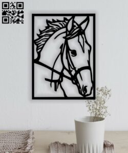 Horse head E0013175 file cdr and dxf free vector download for laser cut plasma