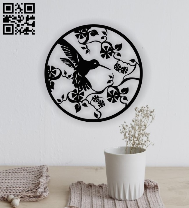 Humming Bird E0013142 file cdr and dxf free vector download for laser cut plasma