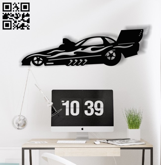 Jet racing car E0013169 file cdr and dxf free vector download for laser cut plasma