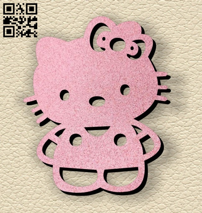 Kitty keychain E0013055 file cdr and dxf free vector download for laser cut