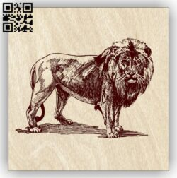 Lion E0012981 file cdr and dxf free vector download for laser engraving machines