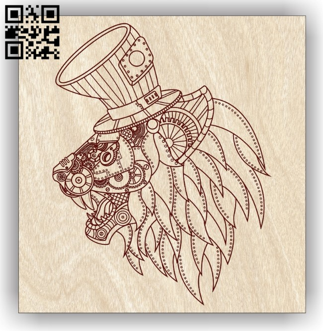 Lion E0013076 file cdr and dxf free vector download for laser engraving machines