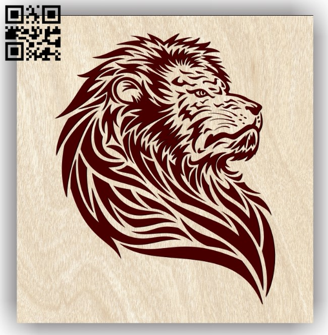 Lion E0013188 file cdr and dxf free vector download for laser engraving machines