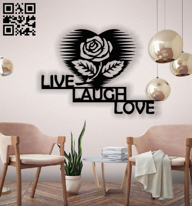Live Laugh Love E0013167 file cdr and dxf free vector download for laser cut plasma