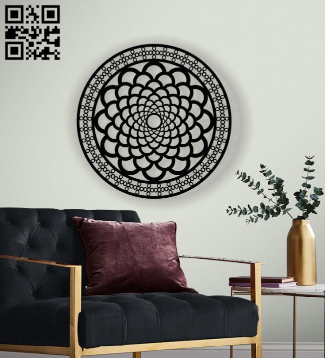 Mandala wall decor E0013063 file cdr and dxf free vector download for laser cut plasma