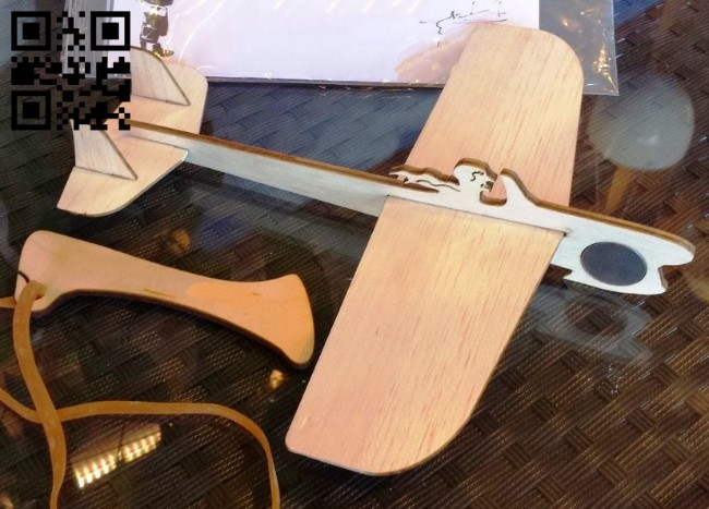 Model aircraft E0012971 file cdr and dxf free vector download for laser cut