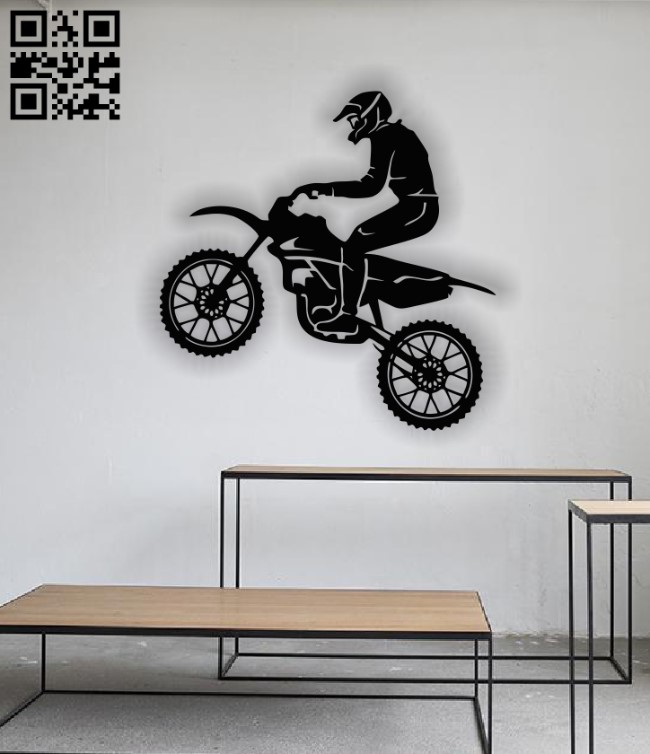 Motorcycle panel E0013029 file cdr and dxf free vector download for laser cut plasma