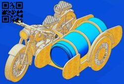 Motorcycle with beer E0013115 file cdr and dxf free vector download for laser cut