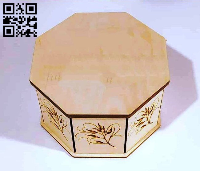 Octagon box E0013159 file cdr and dxf free vector download for laser cut