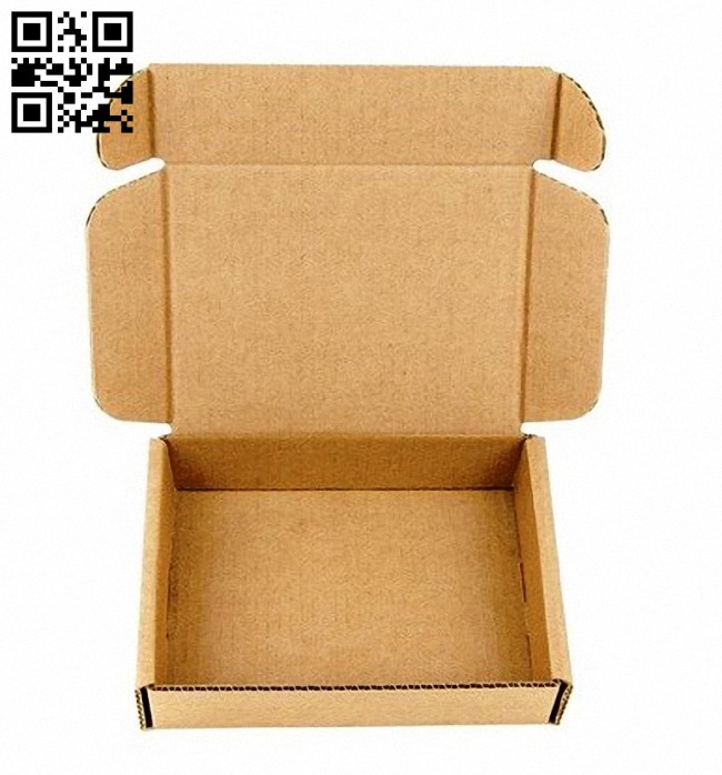 Paper box E0012966 file cdr and dxf free vector download for laser cut