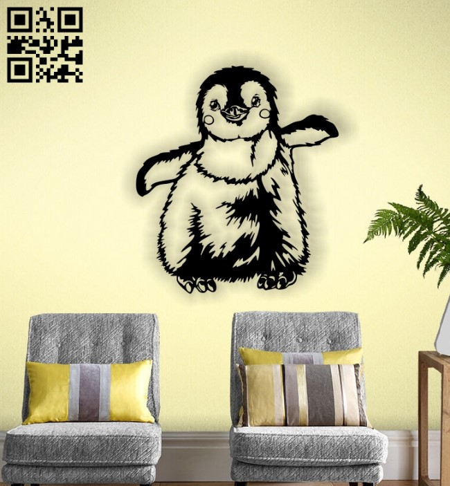Penguin E0013178 file cdr and dxf free vector download for laser cut plasma