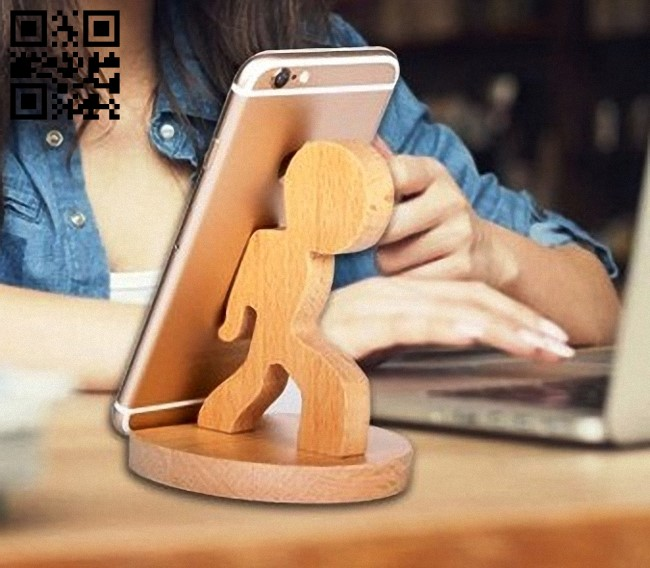 Phone stand E0012989 file cdr and dxf free vector download for cnc