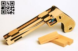 Pistol E0013037 file cdr and dxf free vector download for laser cut