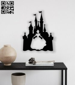 Princess with ice castle E0012963 file cdr and dxf free vector download for laser cut plasma