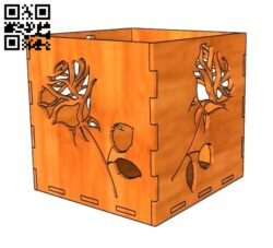 Rose box E0013006 file cdr and dxf free vector download for laser cut