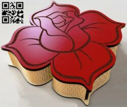 Rose box E0013172 file cdr and dxf free vector download for laser cut