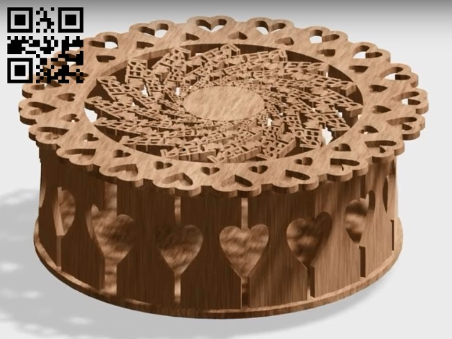 Round box E0013036 file cdr and dxf free vector download for laser cut