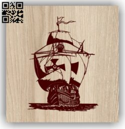 Ship E0013157 file cdr and dxf free vector download for laser engraving machines