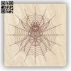 Spider E0013075 file cdr and dxf free vector download for laser engraving machines