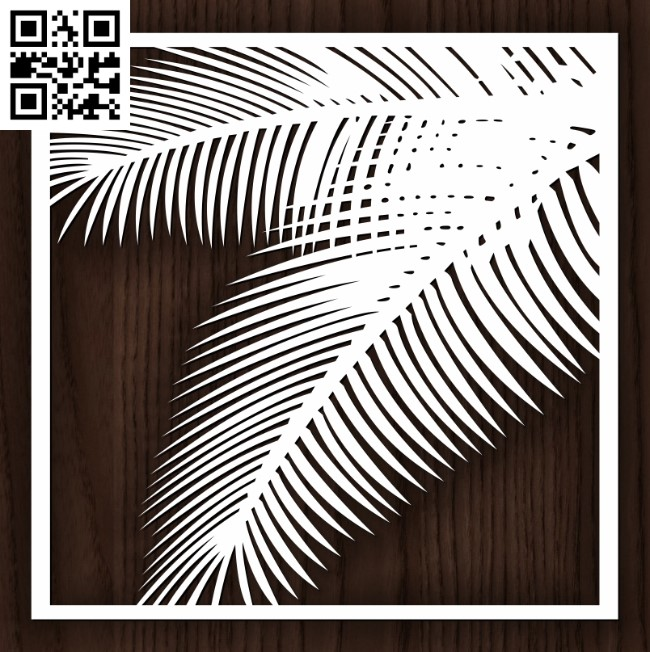 Square decoration E0012951 file cdr and dxf free vector download for laser cut