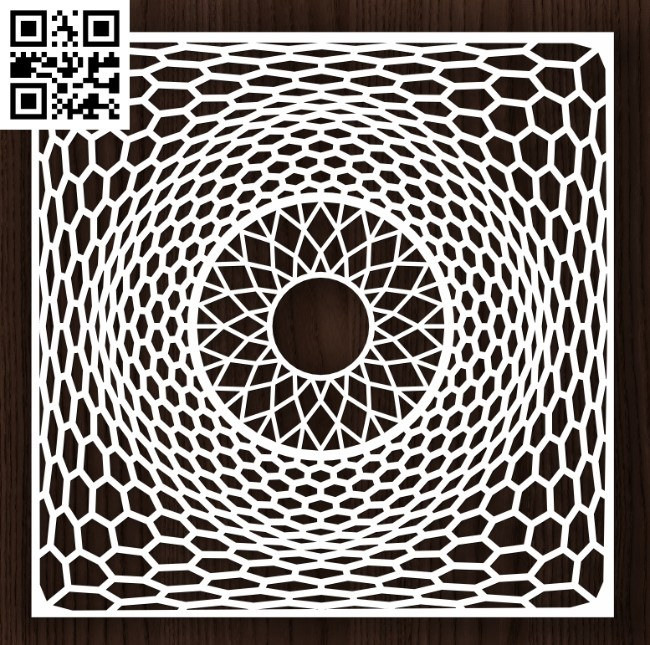 Square decoration E0013150 file cdr and dxf free vector download for laser cut