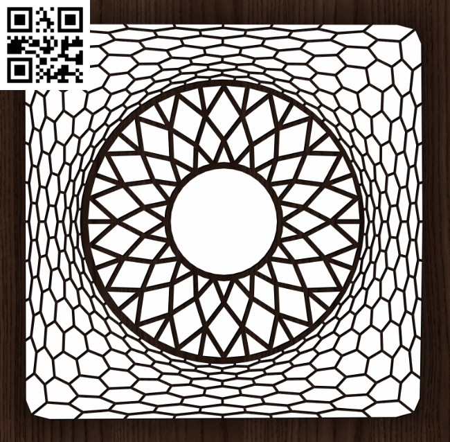 Square decoration E0013151 file cdr and dxf free vector download for laser cut
