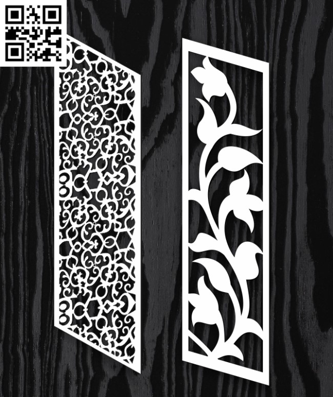 Stair partition E0013047 file cdr and dxf free vector download for laser cut cnc
